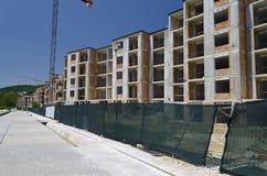 Construcción de edificios residenciales Imagenes de archivo