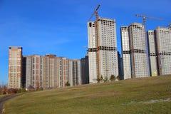 Construcción de edificios residenciales Imagen de archivo libre de regalías