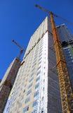 Construcción de edificios residenciales Fotografía de archivo libre de regalías