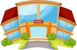 Construcción de escuelas ilustración del vector