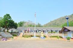 Construcción de escuelas de los niños en el campo en Tailandia Fotografía de archivo