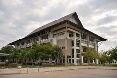 Construcción de escuelas en universidad budista Fotos de archivo