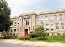 Construcción de escuelas vieja Imagenes de archivo