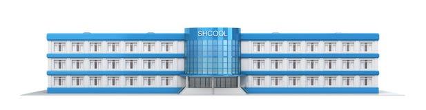 Construcción de escuelas Vista exterior de la escuela Fotos de archivo libres de regalías