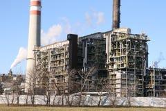 Construcción de fábrica petroquímica Fotografía de archivo libre de regalías