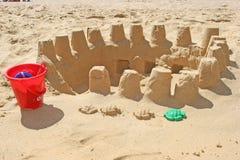 Construcción de la arena Foto de archivo libre de regalías