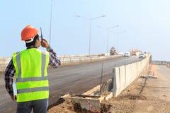 Construcción de la autopista Imagen de archivo