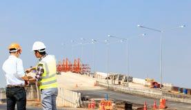 Construcción de la autopista Foto de archivo