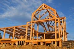 Construcción de la casa fotografía de archivo