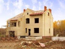 Construcción de la casa fotos de archivo