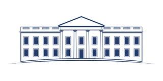 Construcción de la Casa Blanca ilustración del vector