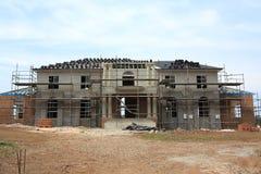 Construcción de la casa de señorío Imagen de archivo libre de regalías
