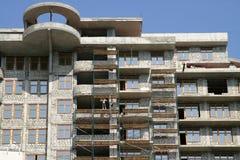 Construcción de la casa de varios pisos Foto de archivo