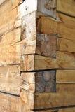 Construcción de la casa de madera fotografía de archivo