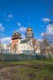 Construcción de la catedral de St Andrei Rublev en el distrito municipal Ramenki de Moscú Imagen de archivo