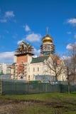 Construcción de la catedral de St Andrei Rublev en el distrito municipal Ramenki de Moscú Imagenes de archivo