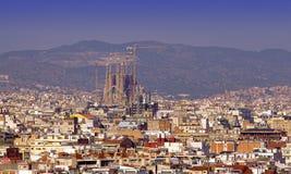 Construcción de la catedral de Sagrada Familia en 2011 españa Imagen de archivo
