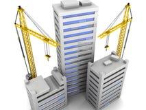 Construcción de la ciudad Fotografía de archivo