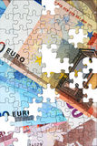 Construcción de la economía euro Fotografía de archivo libre de regalías