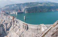 Construcción de la estación de la hidroelectricidad Fotos de archivo