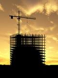 Construcción de la grúa Imagenes de archivo