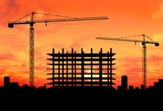 Construcción de la grúa Foto de archivo libre de regalías