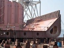 Construcción de la nave Fotografía de archivo