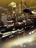 Construcción de la nave espacial Foto de archivo libre de regalías