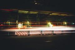 Construcción de la noche Fotografía de archivo