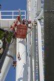 Construcción de la noria 65 metros Imagen de archivo libre de regalías