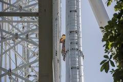 Construcción de la noria 65 metros Fotografía de archivo