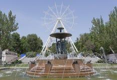 Construcción de la noria 65 metros en Rostov-On-Don foto de archivo libre de regalías