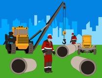 Construcción de la nueva área. Imagenes de archivo