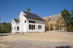Construcción de la nueva casa Foto de archivo libre de regalías