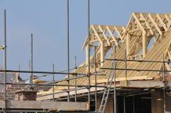Construcción de la nueva casa Imagen de archivo libre de regalías