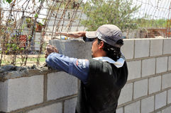 Construcción de la pared fotos de archivo