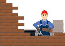 Construcción de la pared libre illustration