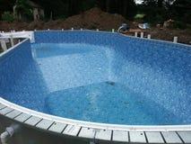 Construcción de la piscina imagen de archivo libre de regalías