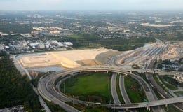 Construcción de la pista del aeropuerto del Fort Lauderdale nueva foto de archivo libre de regalías