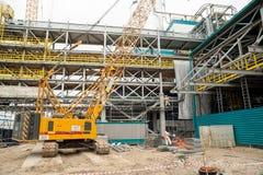 Construcción de la planta petroquímica Tobolsk Imagen de archivo libre de regalías