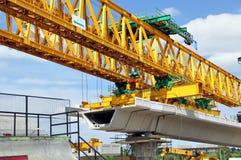 Construcción de la plataforma del tren de cercanías Imagen de archivo libre de regalías