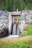 Construcción de la presa de Lyell del lago Fotos de archivo