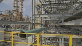 Construcción de la refinería de petróleo metrajes