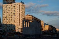 Construcción de la segunda línea de metro en Varsovia Foto de archivo