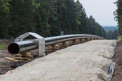 Construcción de la tubería Foto de archivo libre de regalías