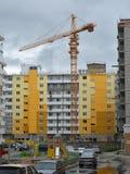 Construcción de la urbanización imagen de archivo libre de regalías