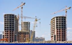 Construcción de las construcciones de viviendas Imagenes de archivo