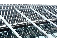 Construcción de las estructuras de acero foto de archivo libre de regalías