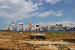 Construcción de las nuevas viviendas Foto de archivo