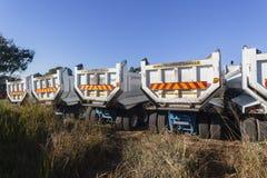 Construcción de los camiones Foto de archivo